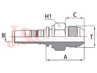I-AGJ koncovka INTERLOCK s vnějším UNF-JIC závitem, kužel 37°