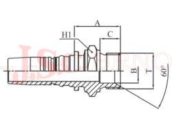I-AGR koncovka INTERLOCK s vnějším palcovým závitem, kužel 60°