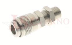 116 - rychlospojka zásuvka panelová s vnějším závitem - DN 5,0mm