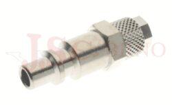 254 - rychlospojka zástrčka s vývodem na trubičku - DN 5,0mm
