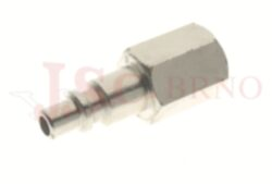 258 - rychlospojka zástrčka s vnitřním závitem - pozvolný odfuk - DN 5,0mm
