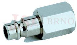 268 - rychlospojka zástrčka s vnitřním závitem - pozvolný odfuk - DN 7,5mm