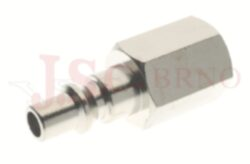 278 - rychlospojka zástrčka s vnitřním závitem - pozvolný odfuk - DN 5,5mm