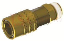 461SW - rychlospojka zásuvka bez uzávěru s vnějším závitem - DN 6,0mm