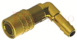 466SW - rychlospojka zásuvka bez uzávěru s vývodem 90° pro hadice - DN 6,0mm