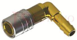 476 - rychlospojka zásuvka s vývodem 90° pro hadice - DN 9,0mm