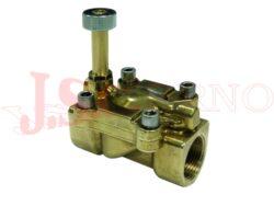 04F..... 2/2 NO nepřímo řízený solenoidový ventil s ručním ovládáním
