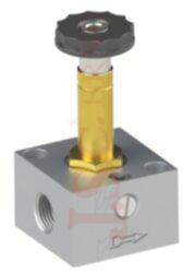 07V S0 3... - elektromagnetický ventil 3/2 jednocívkový -s nouzovým ovládáním
