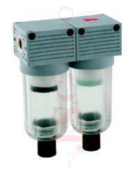 T400 MINI - koalescenční filtr 5µm + 0,01µm s odkalováním (velikost FIL+FC 0)