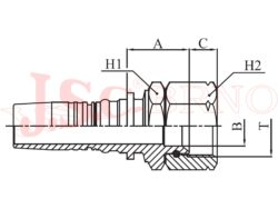 I-DKJ koncovka INTERLOCK s převlečnou maticí a UNF-JIC závitem, kužel 37°
