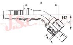 I-DKOS45 koncovka úhlová INTERLOCK s převlečnou maticí, kužel 24°, těžká řada