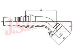 I-SFL45 koncovka úhlová INTERLOCK přírubová, 3000PSI, lehká řada