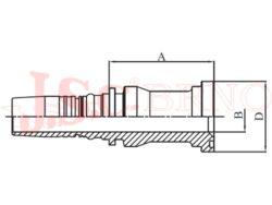 I-SFL koncovka INTERLOCK přírubová, 3000PSI, lehká řada